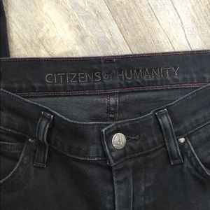 Citizens of Humanity washed black crop jeans EUC